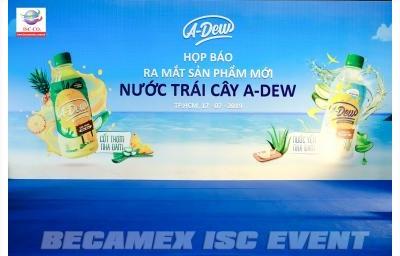 Công ty TNHH Nước giải khát Lai Phú tổ chức Họp báo ra mắt sản phẩm mới Nước trái cây A-Dew