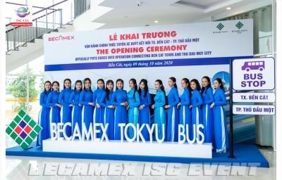 Lễ khai trương vận hành chính thức tuyến xe buýt kết nối tx. Bến Cát - Tp. Thủ Dầu Một